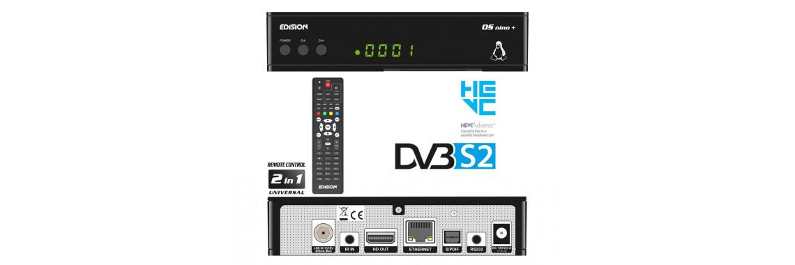 OS NINO+ DVB-S2 H.265/HEVC Linux/Enigma2